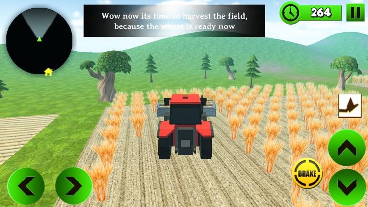 Block Farming Tractor Sim screenshot-4