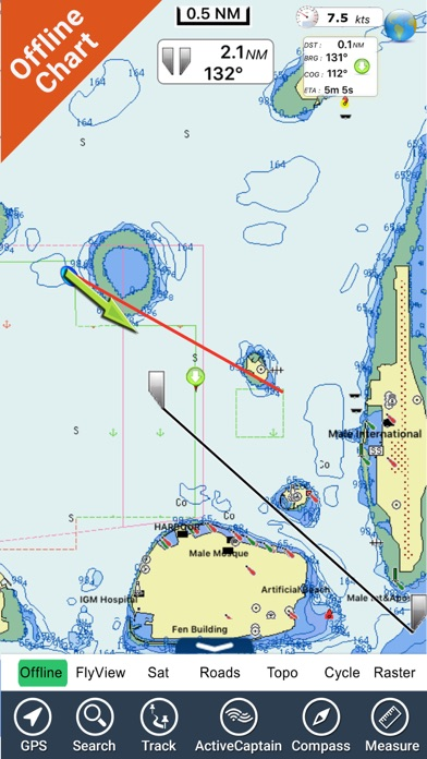 Maldives GPS Map NavigatorCaptura de pantalla de4