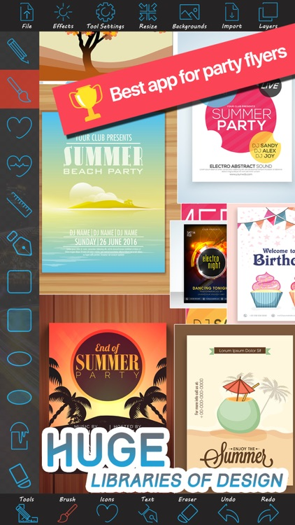 party flyer creator by tech box ltd