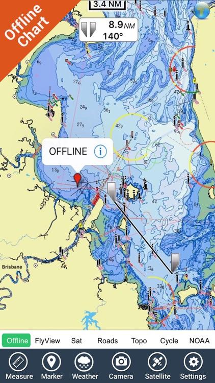 Brisbane Nautical Chart HD GPS screenshot-3