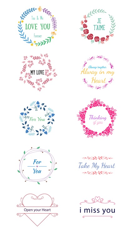 Love Typo - Animated Minimal Typography Stickers screenshot-3
