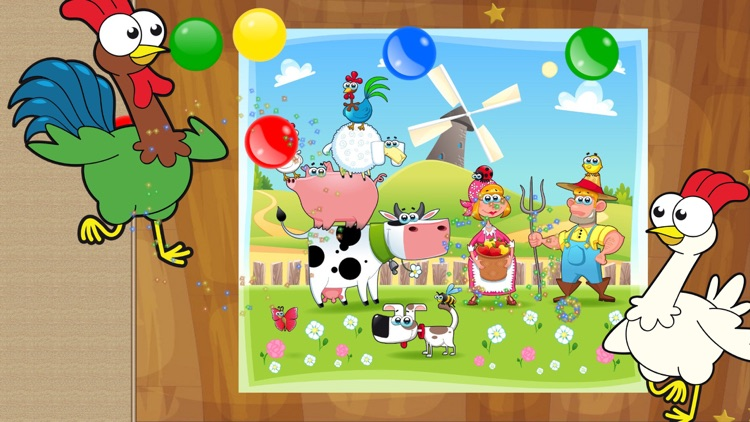 Farm Animals - Puzzle for kids screenshot-3