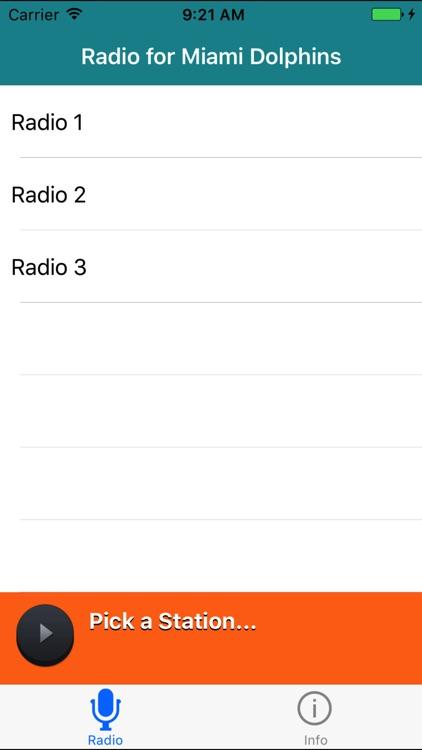 Radio for Miami Dolphins