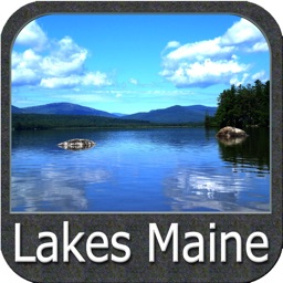 Maine lakes charts - GPS fishing maps Navigator
