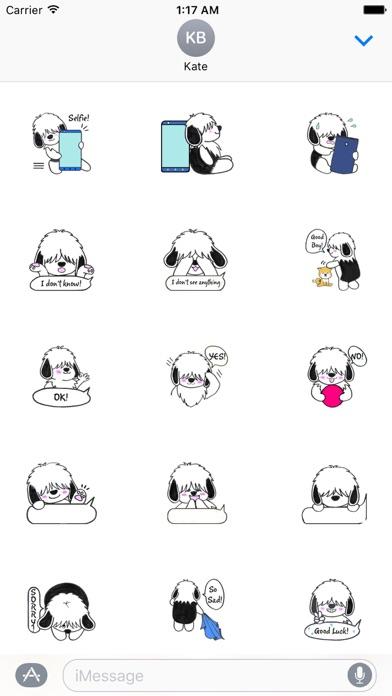 Shaggy Dog ShaggyMoji Sticker screenshot 2