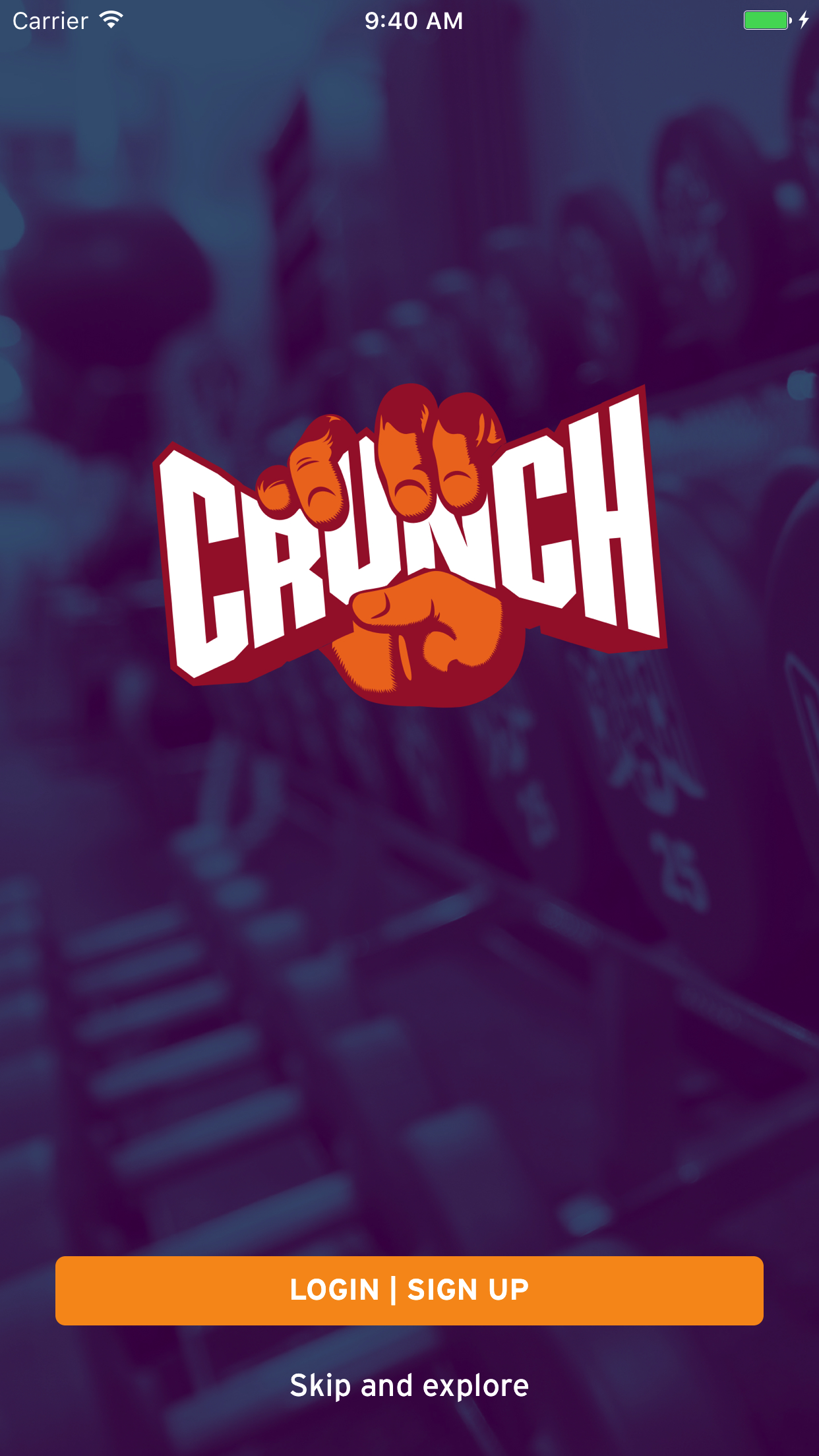 Crunch Fitness Screenshot
