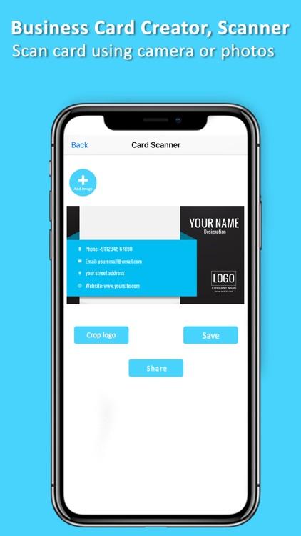 Business Card Creator, Scanner screenshot-3