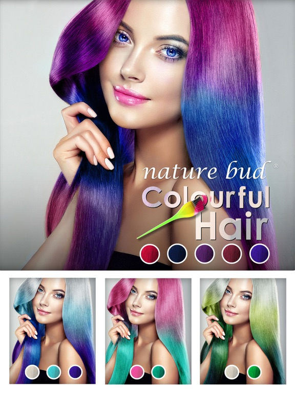 Colourful Hair Changer App Price Drops