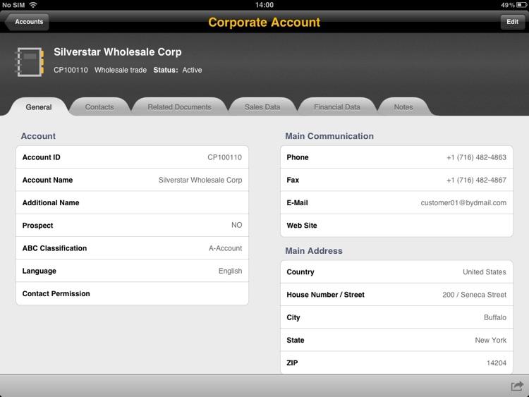 SAP Business ByDesign for iPad screenshot-3