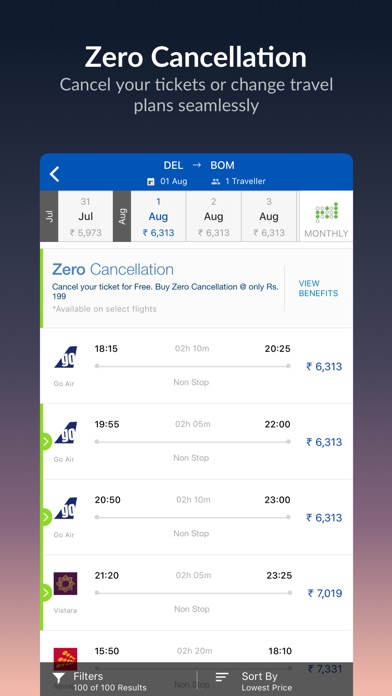 Screenshot for MakeMyTrip - Flights, Hotels in India App Store