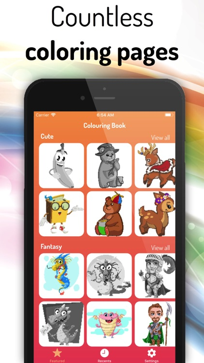 Coloring Book: Color by Number screenshot-0