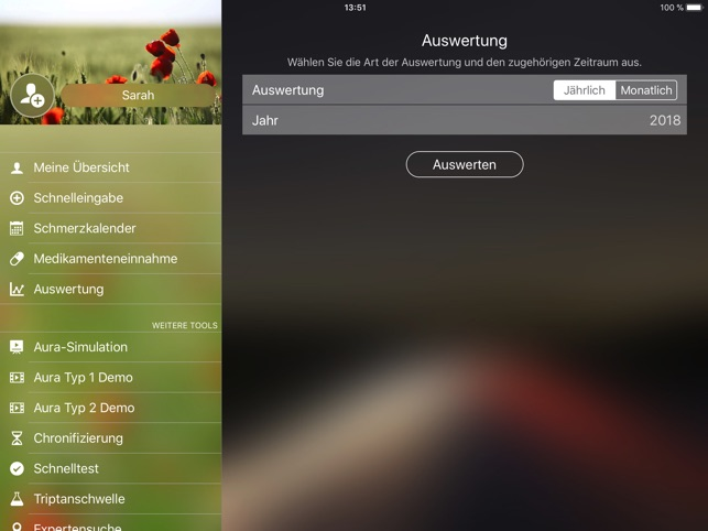 Migräne App Screenshot