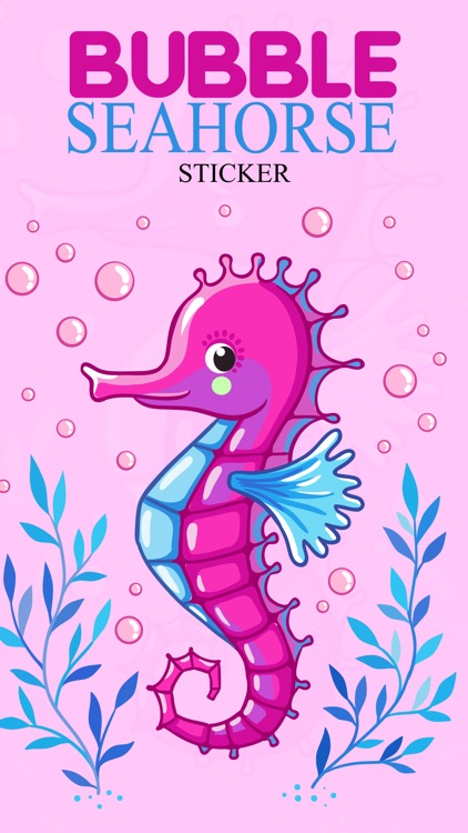 Bubble Seahorse Stickers screenshot-0