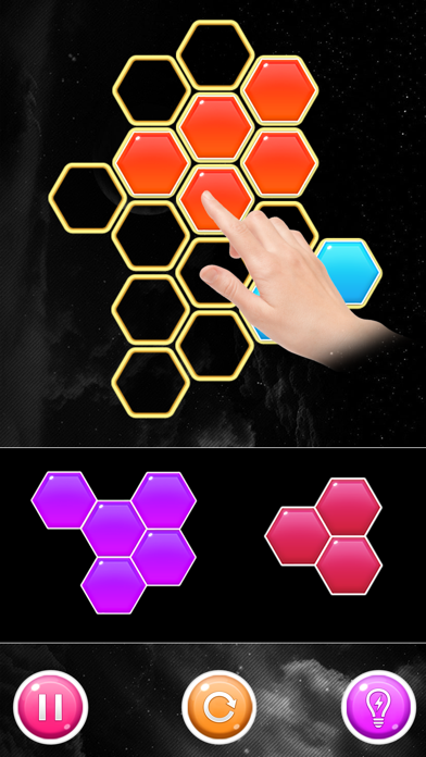 Hexes Bomb!  Block Puzzle Game screenshot two