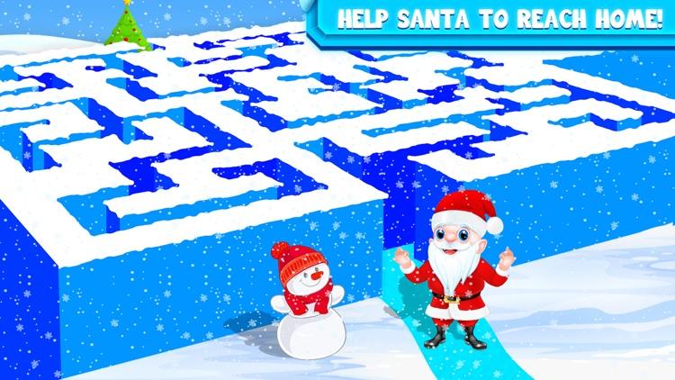 Kids Maze : Christmas Puzzle screenshot-3