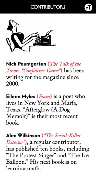 The New Yorker Magazine app image