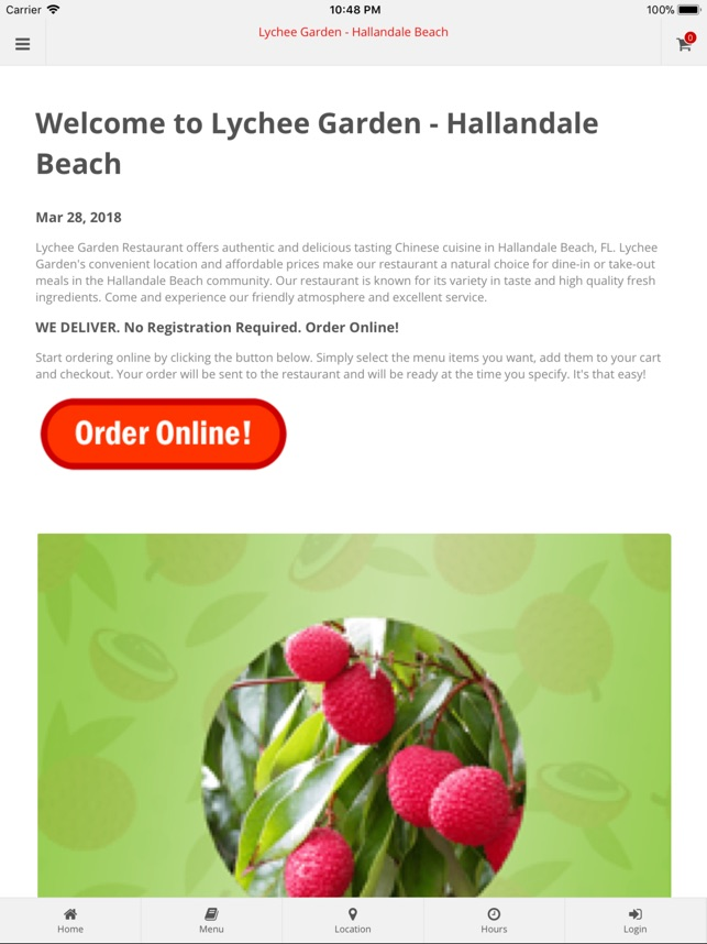 Lychee Garden Hallandale Beach On The App Store