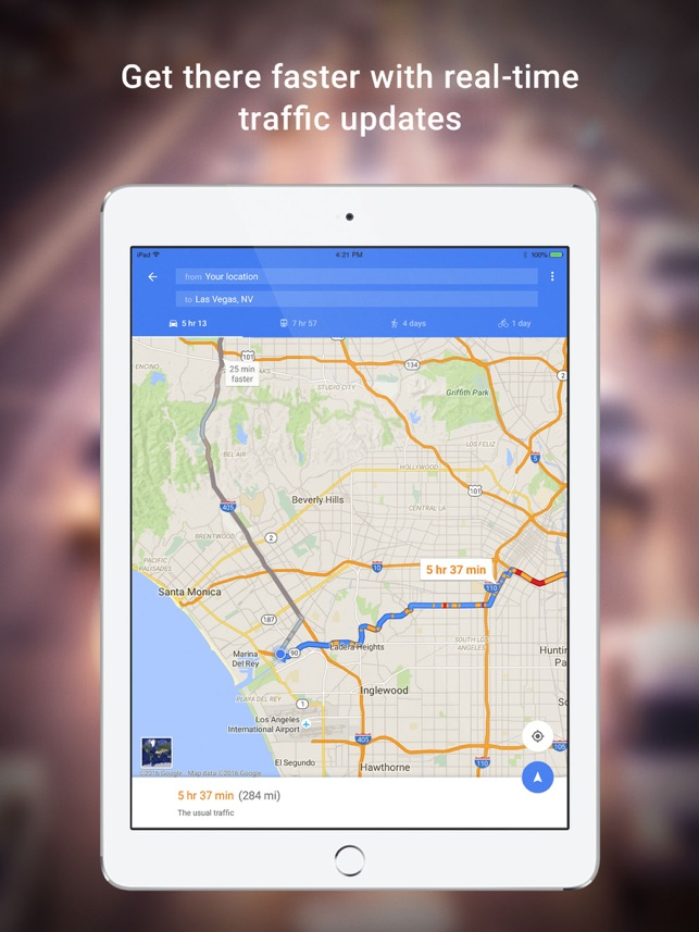 Google Maps GPS Navigation on