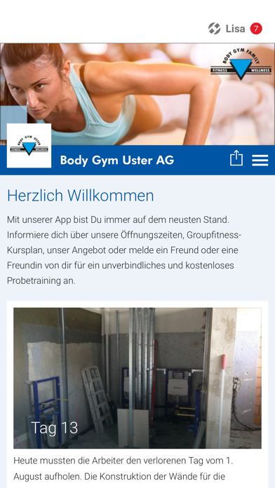 Body Gym Uster AG screenshot 1