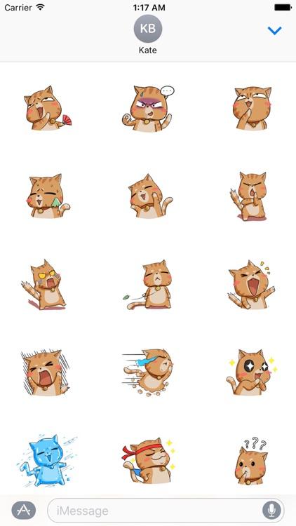 Kungfu Cat Stickers Pack