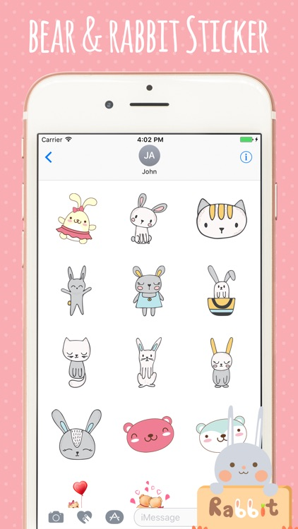 Bear Rabbit Stickers screenshot-3