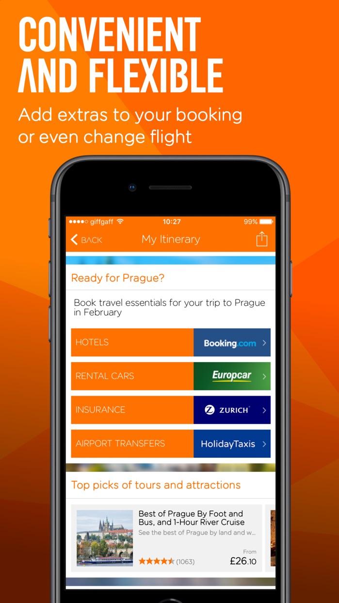 easyJet: Travel App Screenshot