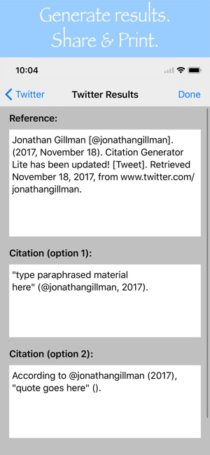 Citation Generator Lite on the App Store
