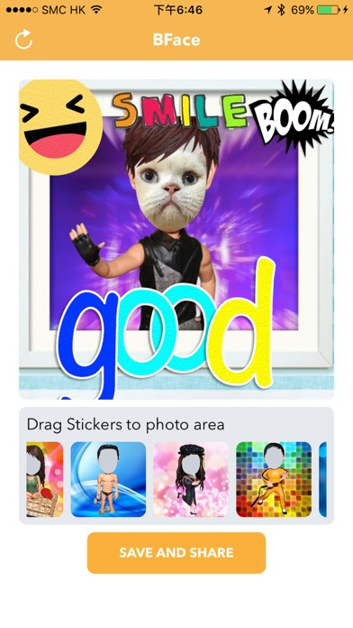 BFace - Bobblehead Face Emoji Stickers Maker screenshot three