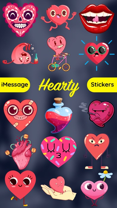 Hearts Emoji Funny Texting App screenshot one