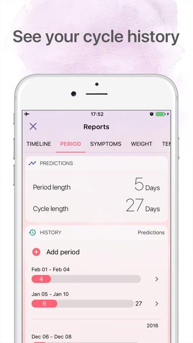 Period tracker Period calendar screenshot