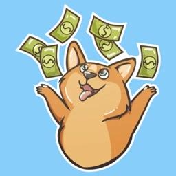 Money Dog Stickers
