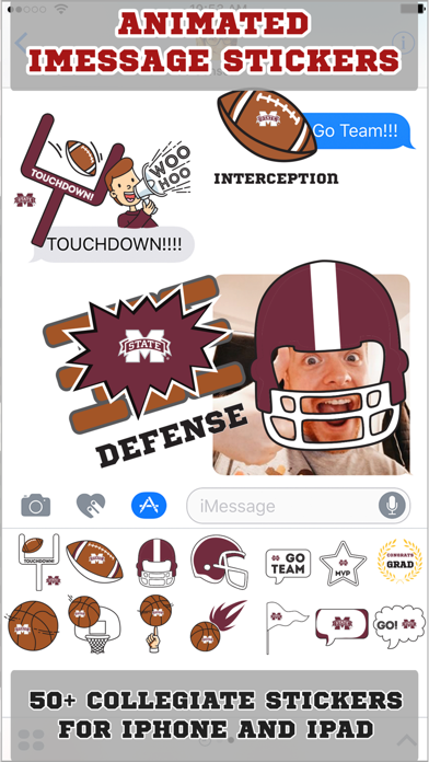 Mississippi St Bulldogs Animated+Stickers