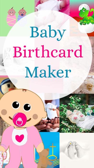 Baby - Birth Card Maker screenshot 1