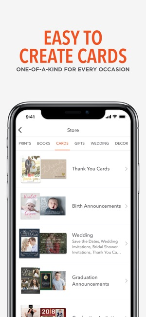 shutterfly prints gifts on the app store