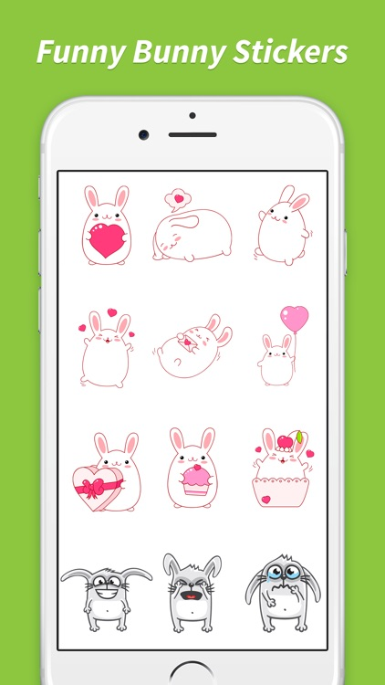 Bunny Love Stickers screenshot-3