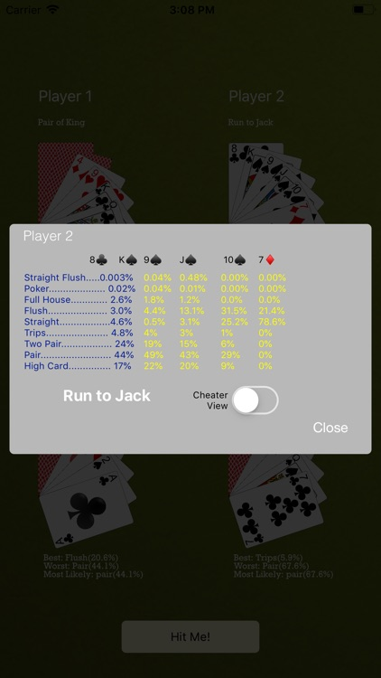 Odds4Poker - 7-Card Stud screenshot-4