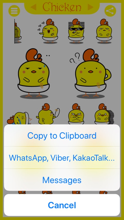 Chicken - Animated Stickers