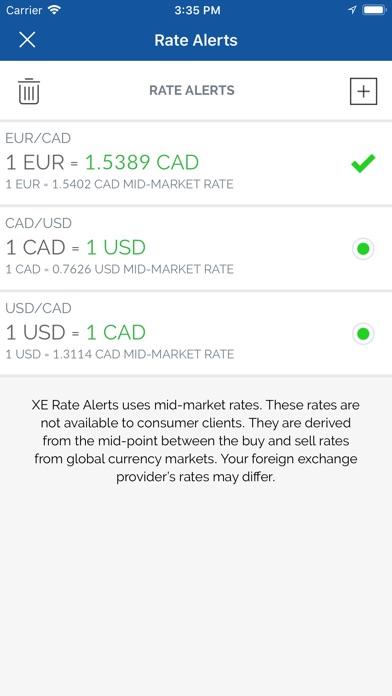 XE Pro 通貨換算ツール&為替レート計算機スクリーンショット