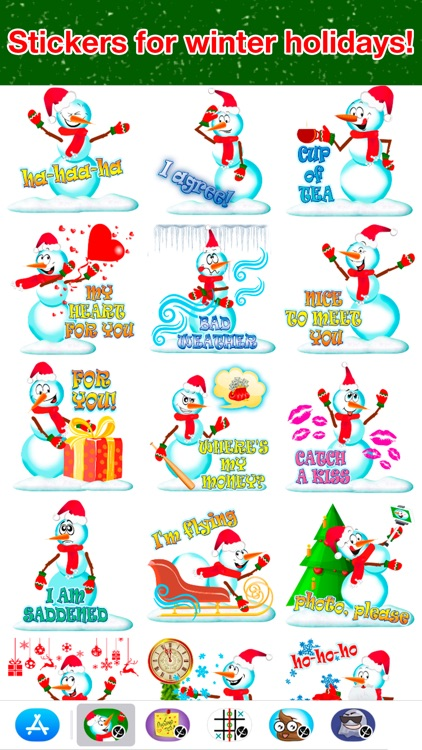 Snowman - Winter cute stickers