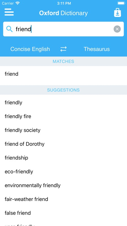 Concise Oxford Dict. & Thes. screenshot-4