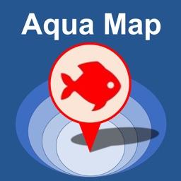 Aqua Map Lakes - Fishing Chart