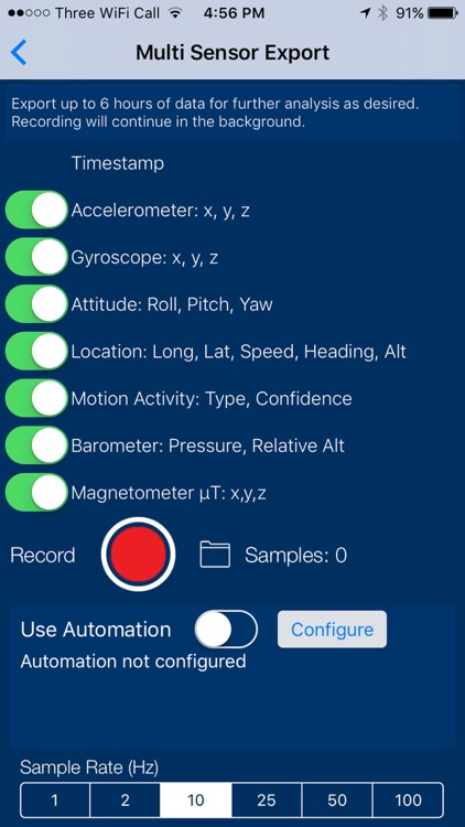 Sensors Pro - The Scientific Data Recorder screenshot-3