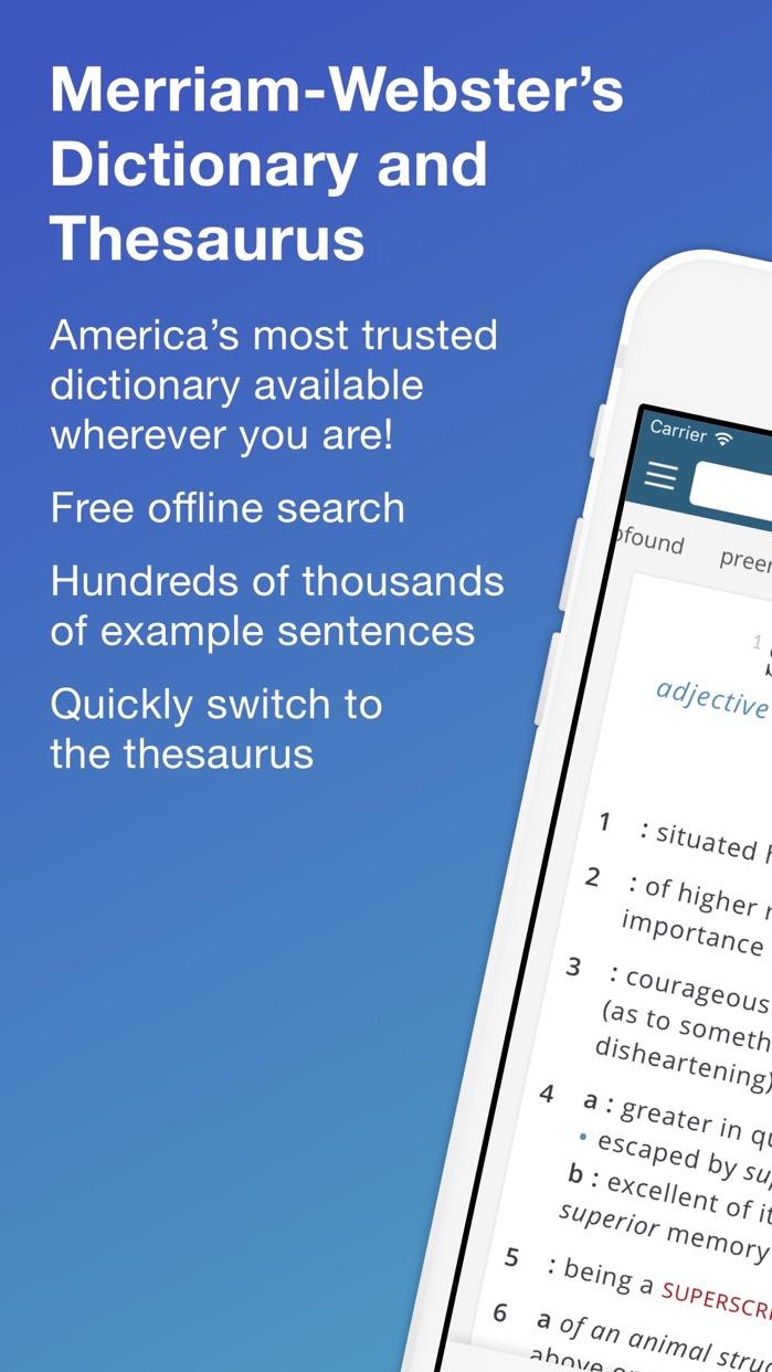 Merriam-Webster Dictionary Screenshot