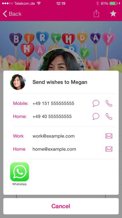 #BDay - The Birthday App screenshot-4