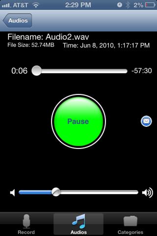 Screenshot of iRecord