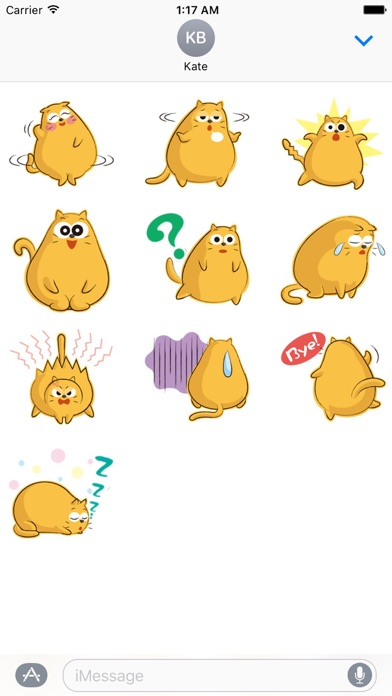 Funny Chubby Cat Sticker screenshot 3