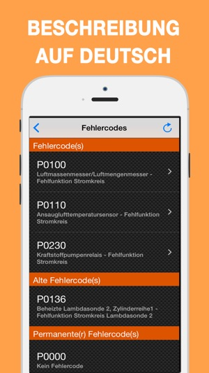 EOBD Facile Fahrzeug-Diagnose Screenshot