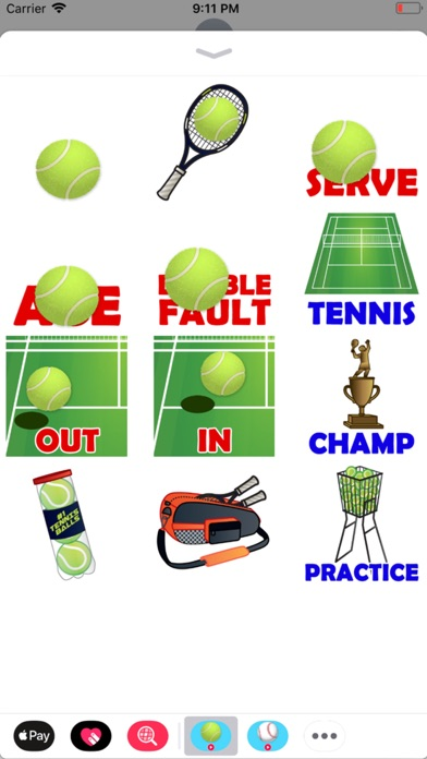 Animated Tennis Stickers screenshot 2