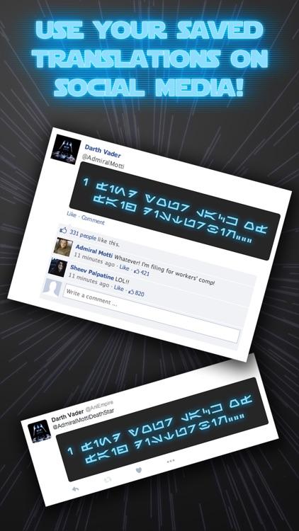 Aurebesh IO (no ads) screenshot-3