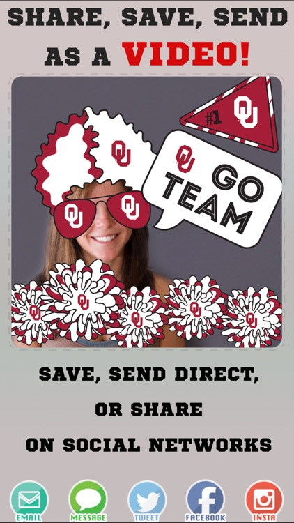 Oklahoma Sooners Animated Selfie Stickers screenshot-3